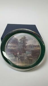 Glass paperweight depicting part of the Haywain by John Constable