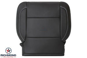 2015 2016 GMC Sierra 1500 SLT SLE -Driver Side Bottom Leather Seat Cover Black