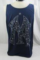 New York Yankees Majestic Men's Tank Top - Size XL -Navy/Gray NWT +FREE Shipping