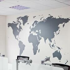 Large Black Map of the World Wall Sticker Decal Vinyl Art Sticker Home Decor