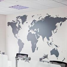 World Map Atlas Wall Sticker Printed Bedroom Decorative Removable Adhesive Vinyl