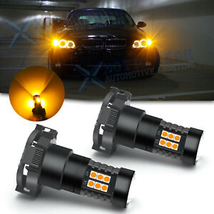 Amber PY24W 5200 Bulb Bright For BMW Audi Land Rover LED Front Turn Signal Light