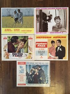 5 Original Audrey Hepburn Lobby Cards / Movie Posters - Breakfast At Tiffany's