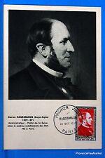 BARON HAUSSMANN   1952 France Carte Maximum Yt 934