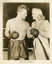 KIRK DOUGLAS MARILYN MAXWELL CHAMPION 1949  VINTAGE PHOTO ORIGINAL BOXE BOXING