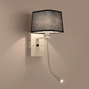 Modern Minimalist Bedside LED Bedroom Reading Wall Light Lamp Fixture Sconce