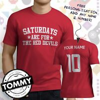 Crawley Town Fan T-Shirt, Saturdays Are For, Red Devils Football tshirt,