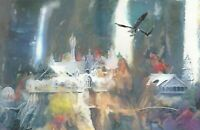 """Lord of the Rings Rivendell with Eagles Frodo Sam Painting Art Print 11x17"""""""