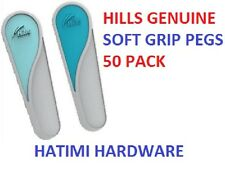 Hills 50 Pack Rubberised Soft Grip Clothes Pegs Long Life Pegs UV Resistant