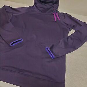 NIKE PRO DRI-FIT Warm Women's Turtleneck Long Sleeves Shirt Purple Size XL EUC