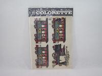 Planche Vintage décalcomanie Train COLORETTE bsb 153 Super-Decals décoration