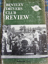 BENTLEY DRIVERS CLUB REVIEW FEB 1973 #107 THE DORCHESTER DARELL BERTHON MAINTENA