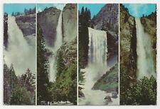 The Four Falls, Nevada - Yosemite - Vernal - Bridal Veil, California Postcard