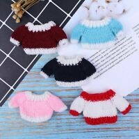 1PCS Miniature 1/12 Dollhouse Tops Woven Knitted Doll Blythe Sweater Clothes