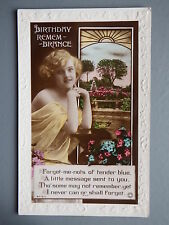 R&L Postcard: Portrait Art Deco Glamour Lady, Rotary Embossed