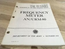 ARMY / AIRFORCE FREQUENCY METER MANUAL AN/URM-80
