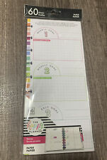 Happy Planner 60-pk Fitness Goal Half Sheet Filler Paper -CLASSIC