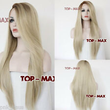 "22"" Lace Front Wig perruque cosplay halloween femmes Hair Brun & Blonde gelatte mode"