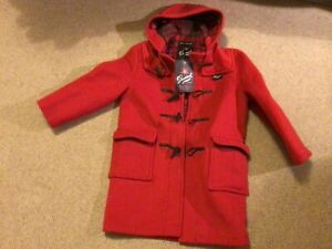 New Red Gloverall duffle coat aged 9