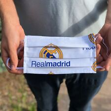 Real Madrid 100% Cotton Washable Handmade Adult Face Mask