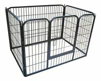 HEAVY DUTY PUPPY PLAY PEN / RABBIT ENCLOSURE / WHELPING BOX IN GUNMETAL GREY
