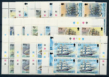 FALKLAND ISLANDS 1989 DEFINITIVES SG567/582 PLATE BLOCKS OF 4 MNH