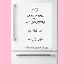 Magnetic Whiteboard Plain A3 Dry Wipe Flexible Memo Notice Fridge Planner Magnet