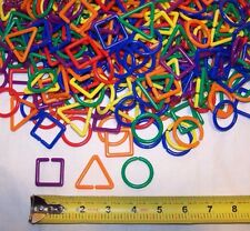 50 Durable Plastic Shapes Clips Chain Links Sugar Glider Parrot Bird Toy Parts