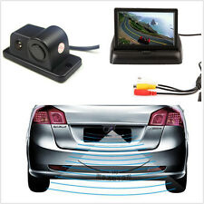 "4.3"" Foldable TFT Color LCD Screen + 2 in1 Camera Parking Reversing Radar Sensor"