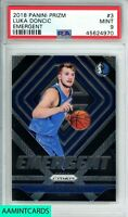 🏀🔥2018 PANINI PRIZM Luka Doncic #3 EMERGENT PRIZM ROOKIE RC PSA 9🔥🏀