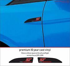FORD FOCUS ST PERFORMANCE  Premium 10 Year Cast Vinyl Decals Stickers  x 2