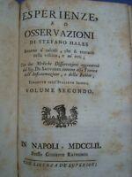 MEDICINA-HALES-EMASTATICA OSSIA STATICA DEGLI ANIMALI-RENI-CALCOLI-VESCICA-1752