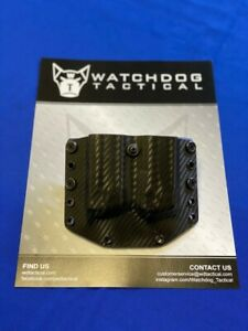 Watchdog Tactical Double Magazine Holder, M&P 9/40, Black Carbon Fiber
