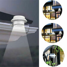 New listing 3-LED Solar Powered Gutter Light Outdoor/Garden/Yard/Wall/Fence/Pathway Lamp