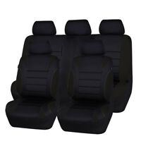 Universal Car Seat Covers Set Neoprene WATERPROOF Full Seat Airbag Black