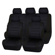 Universal Car Seat Covers Neoprene WATERPROOF Full Seat Airbag Fit Black