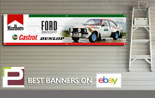 Mk 2 Ford Escort Castrol Rally Car Banner, for Workshop / Garage, Pit Lane, RS,