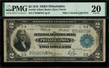 1918 $2 Federal Reserve Bank Note Philadelphia - Battleship FR-756 - PMG 20 VF