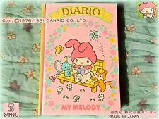 💎 Vintage SANRIO MY MELODY 1981 DIARIO Diary COLLEZIONE Nuovo JAPAN ITALIA RARE