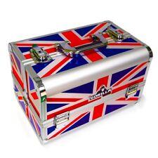 Mobile Beauty Makeup Vanity Nail Cosmetics Carry Case Storage Box (Union Jack)