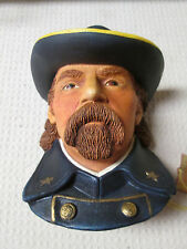 Vintage England Legends Chalkware LtCol George A Custer Signed by Wright Mint