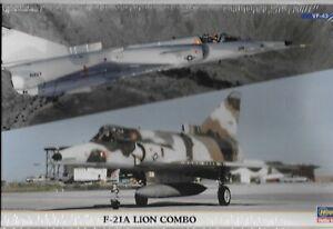 Hasegawa F-21A Lion /Kfir, Combo, 2 Model Kits in 1, VF-43, VMFT-401 1/72 00986