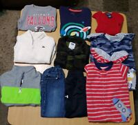 Lot of Boys Fall Play Clothes Size 2T 10 pcs Pants Tops Pajamas Vest