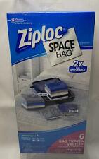 Ziploc Space 6 Bag Travel Variety Organizer New Sealed