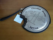 chocolate coin clutch bag NEW LOOK wriststrap