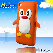3D CUTE PENGUIN Orange SILICONE SKIN CASE FOR COVER IPOD TOUCH 4th Gen 4G + SP
