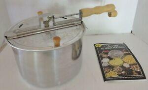 "Vintage ""The Genuine Whirley-Pop"" Popcorn Popper -Instuction Book, Original Box"