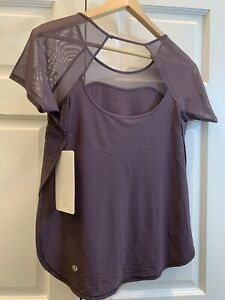 New LULULEMON Anew Top Tee Short Sleeve Black Currant Cherry 4