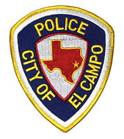 EL CAMPO TEXAS TX Police Sheriff Patch STATE SHAPE OUTLINE CITY STAR GOLD ~
