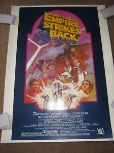 ORIGINAL > EMPIRE STRIKES BACK movie poster 30x40 1982 star wars